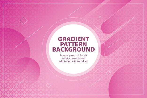 Modern gradient pattern shape background