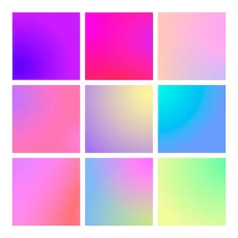 Modern gradient set abstract background