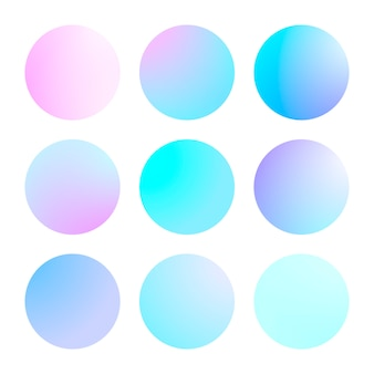 Modern gradient set abstract background