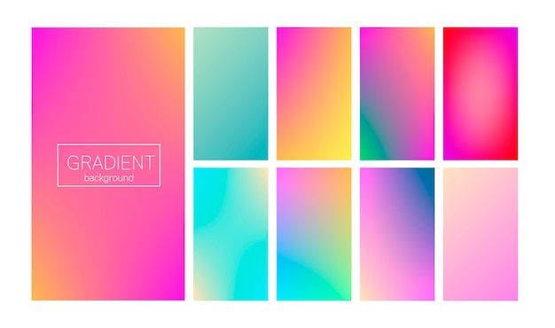Modern gradient set abstract cover
