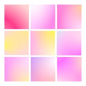 正方形の抽象的な背景で設定されたモダンなグラデーション