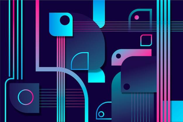 Modern gradient shapes on dark background