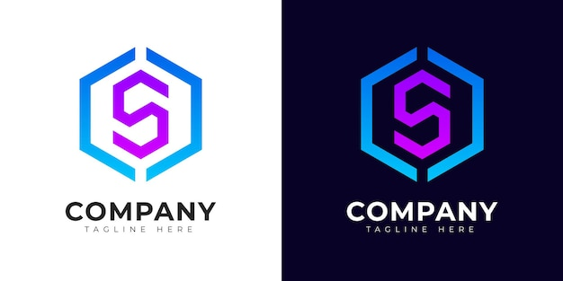 Шаблон дизайна логотипа начальной буквы s в современном стиле градиента