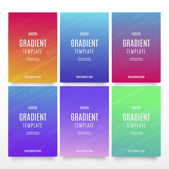 Modern gradient template collection