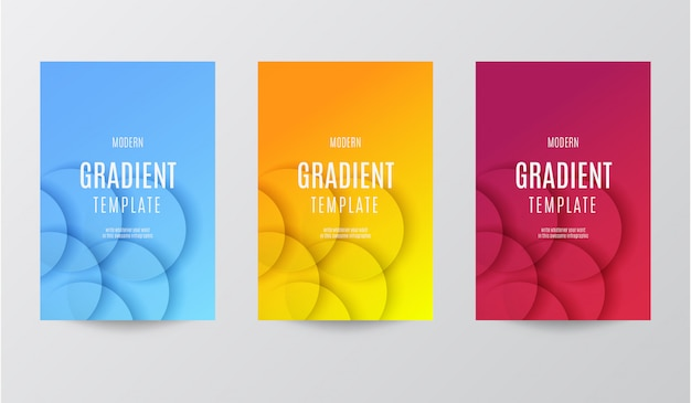 Modern gradient template with geometric background