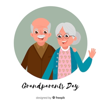 Modern grandparents day background