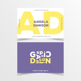 Modern graphic designer business card template