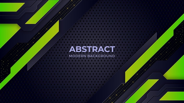 Modern green and black gradient contrast corporate background.