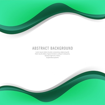 Modern green business wavy background
