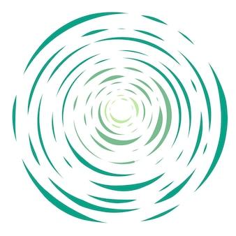 Modern green circular background