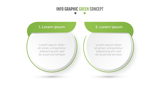 Modern green concept design layout.