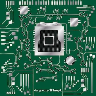 現代緑のcpuの背景