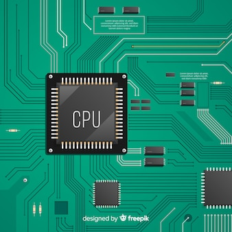 Modern green cpu background