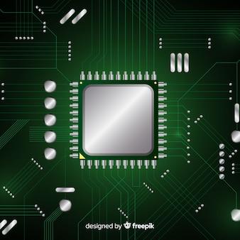 현대 녹색 cpu 배경