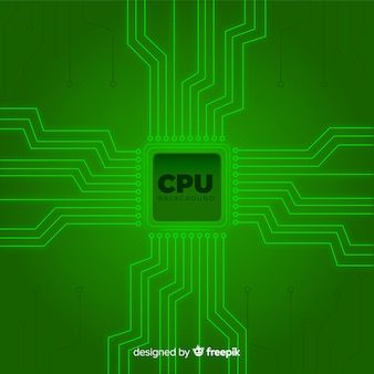 Modern green cpu background