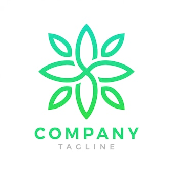 Modern green flower logo
