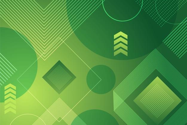 Carta da parati geometrica verde moderna