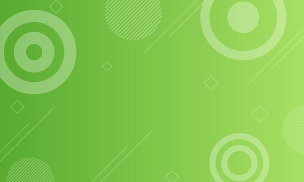モダンな緑のグラデーションの幾何学的な背景。ポスター、バナーのデザイン。