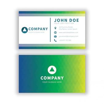 Modern green gradient geometrical business card