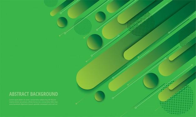 モダンなグリーングラデーショントレンディな背景