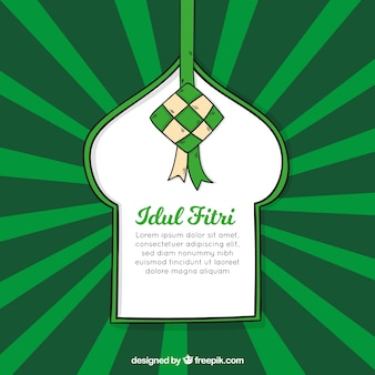 Modern green idul fitri background