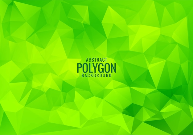 Modern green low poly triangle shapes