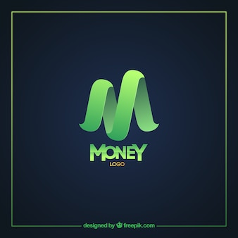 Modern green money logo template