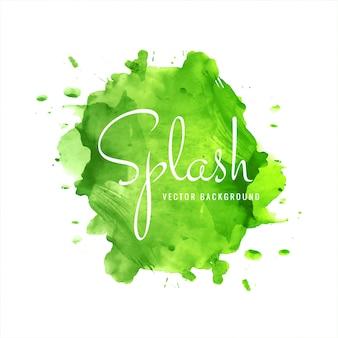 Modern green watercolor splash background