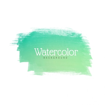 Modern green watercolor stroke design