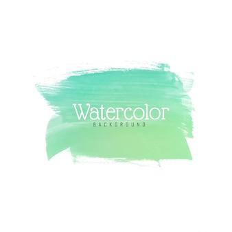 Современный зеленый акварельный дизайн