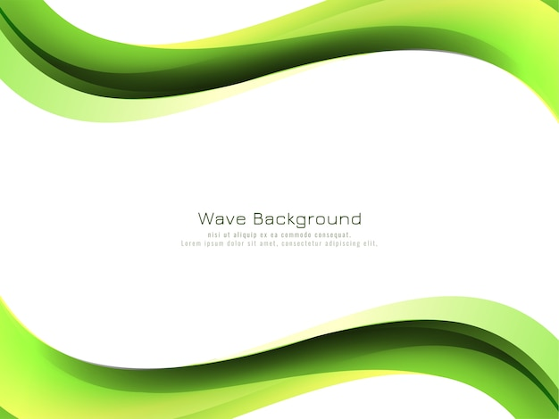 Modern green wave style background design vector
