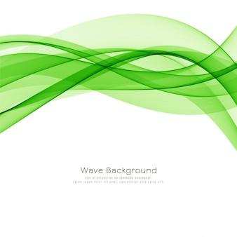 Modern green wave stylish background