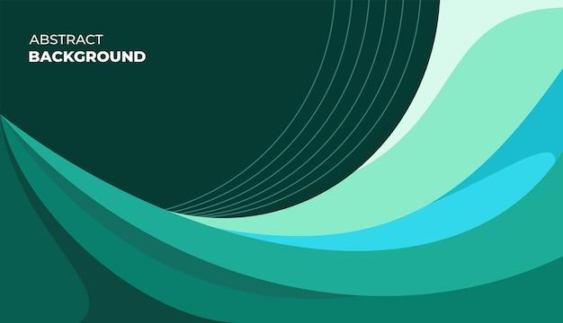 Modern green waves background vector design
