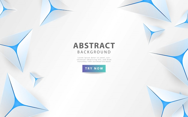 Modern grey abstract triangle background with blue line