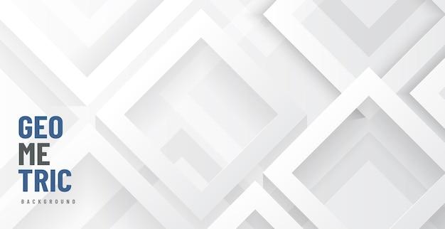 モダンなグレーと白の幾何学的形状が背景のレイヤーに重なっています。