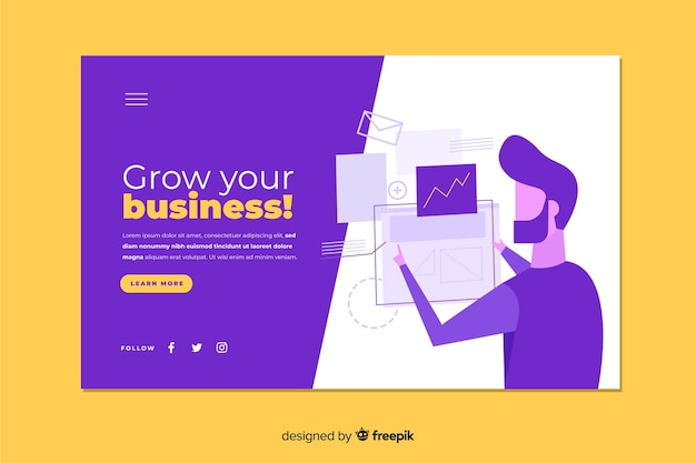 Modern grow your business landing page