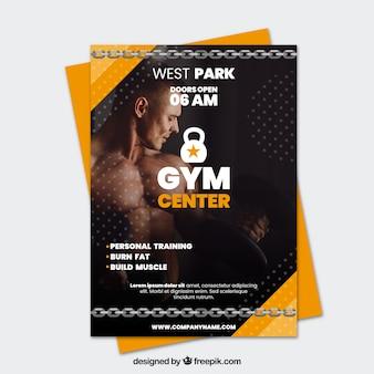 Modern gym flyer template