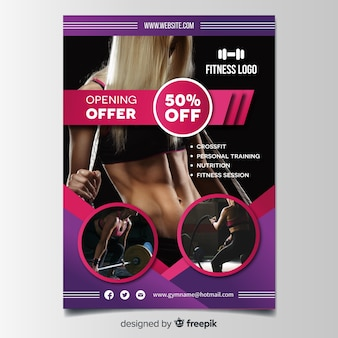 Modern gym flyer template