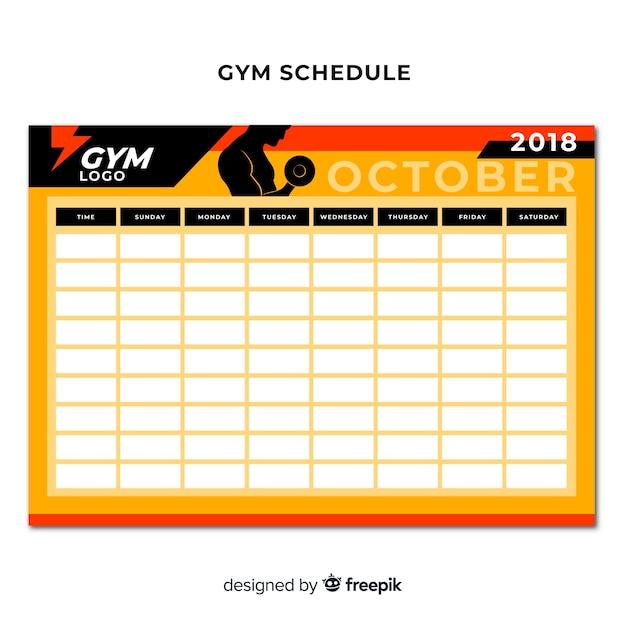 gym schedule template - Ataum berglauf-verband com