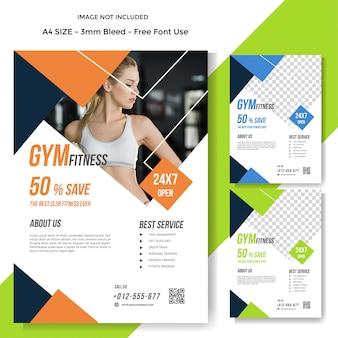 Modern gym sport flyer template