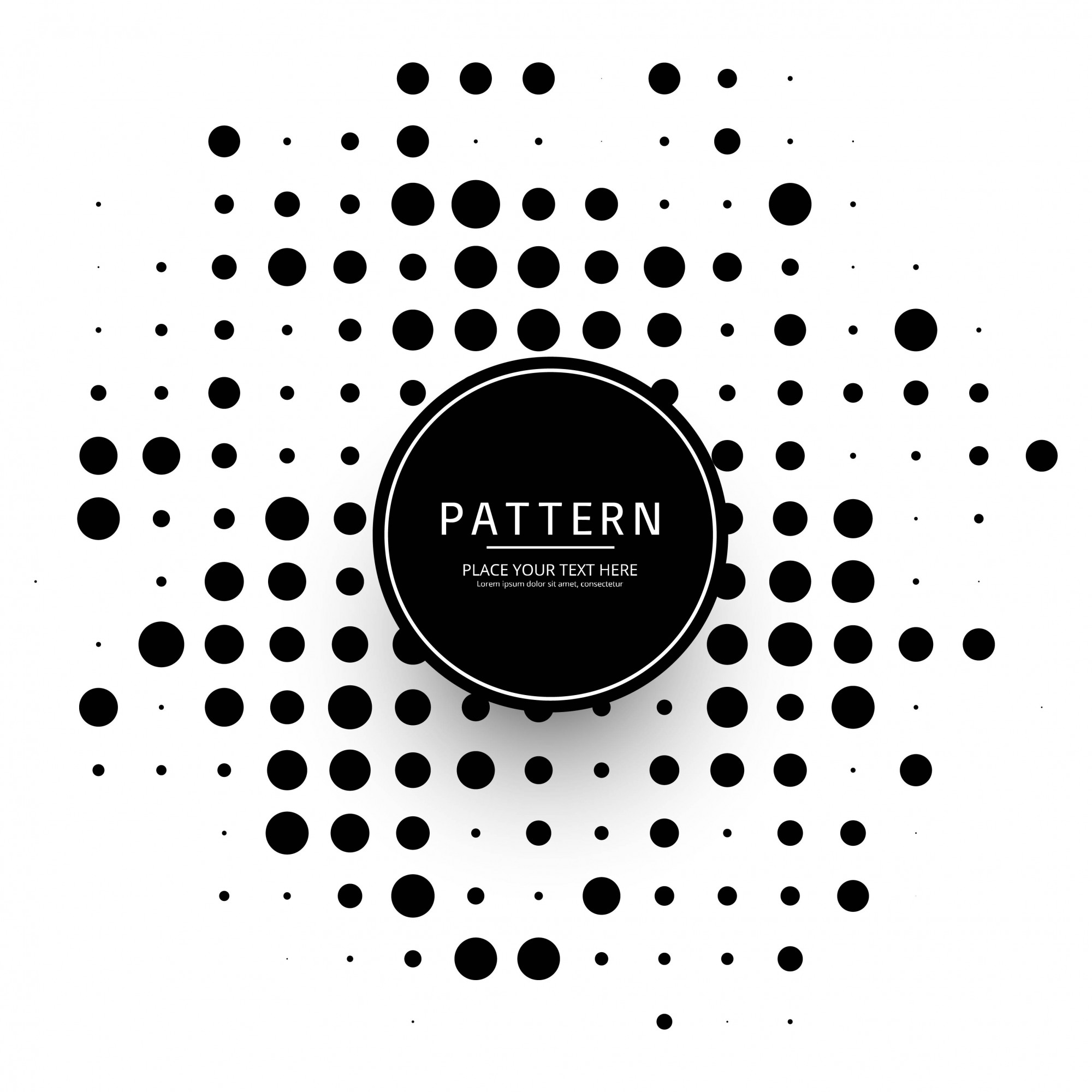 Modern halftone dotted design vector