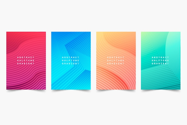 Modern halftone gradient cover collection