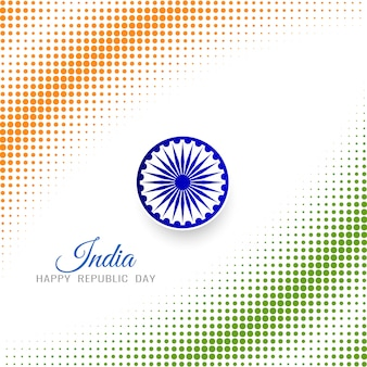 Modern halftone pattern indian flag