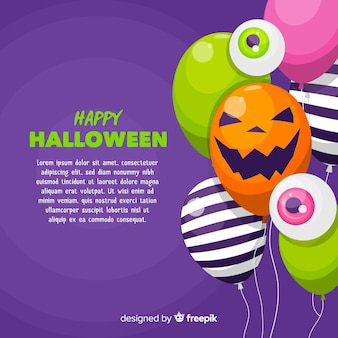 Modern halloween background with balloons