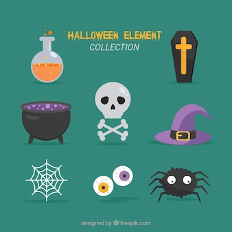 Modern halloween element collection