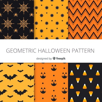 Modern halloween pattern collection