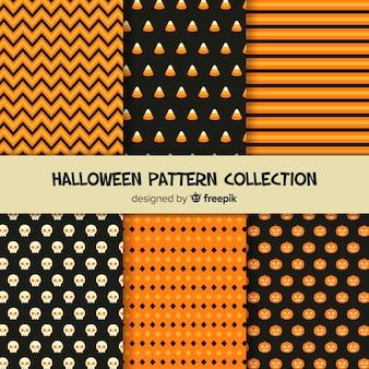 Modern halloween pattern set