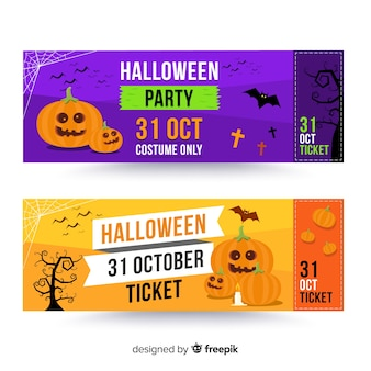 Modern halloween ticket template