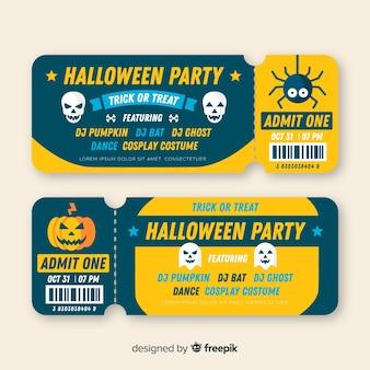 Modern halloween tickets concept