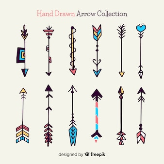 Modern hand drawn arrow collection